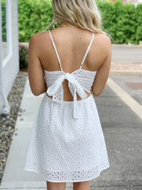 Mid Summer Eyelet Dress - White