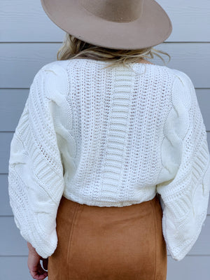 Sugar Cookie Crop Sweater - Ivory