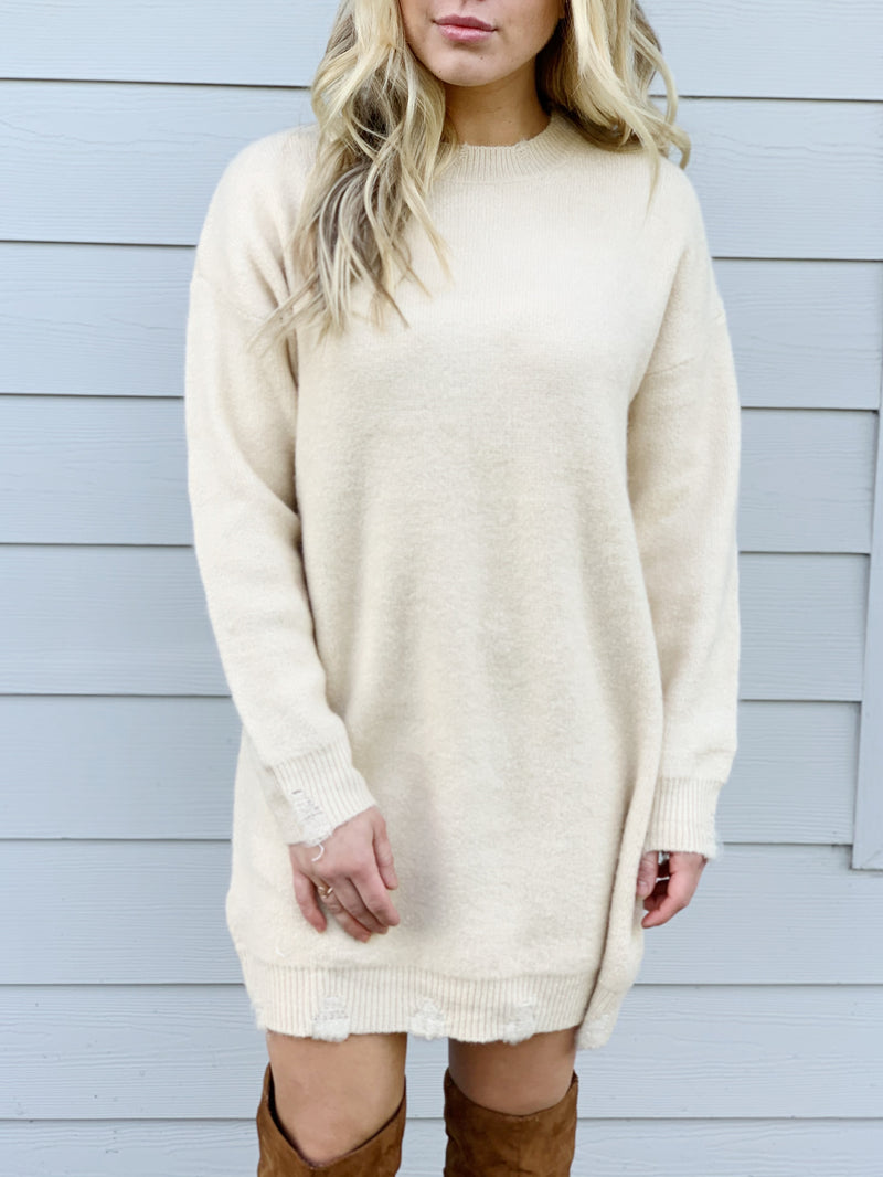 Westwing Distressed Sweater Dress - FINAL SALE