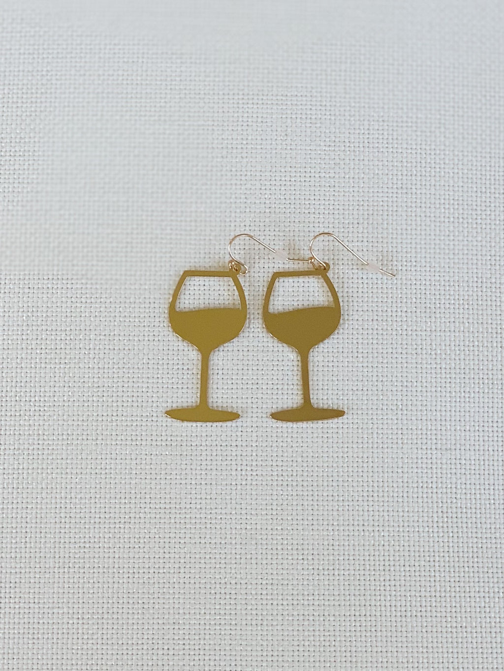 Wine Glass Earrings - 2 Colors