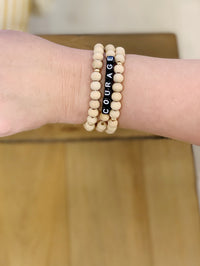 Word Bead Bracelet - 2 Sayings