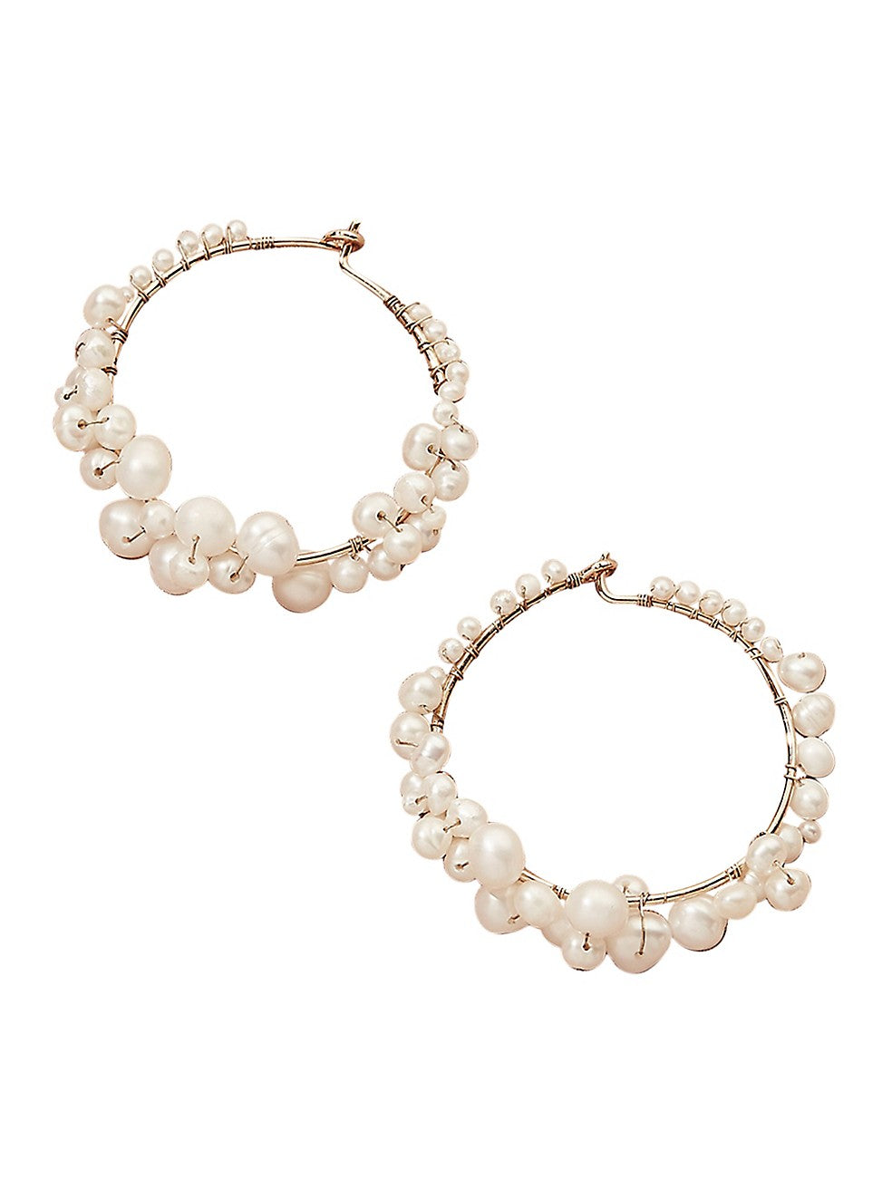 Cruz Pearl Hoop Earrings
