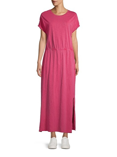 Drop-Shoulder Knit Maxi Dress