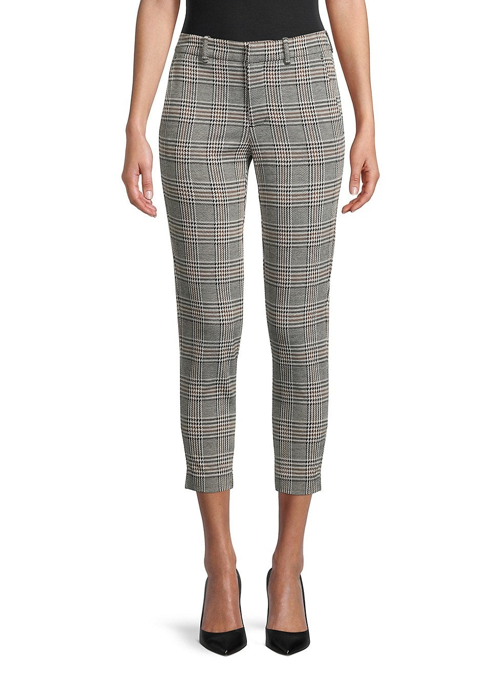 Petite Glen Plaid Cropped Pants