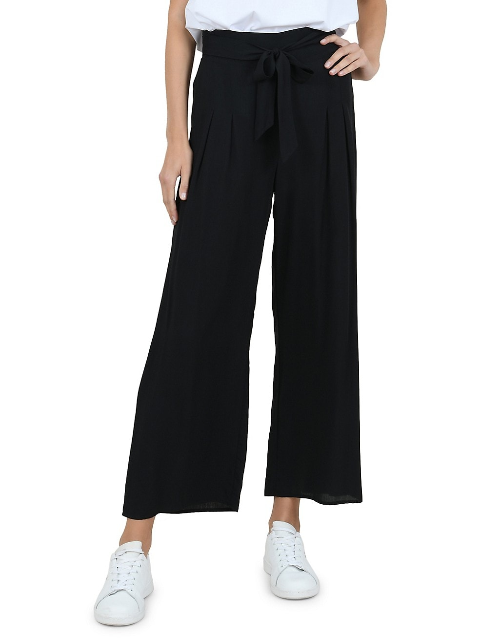 Lili Sidonio Self-Tie Wide-Leg Pants