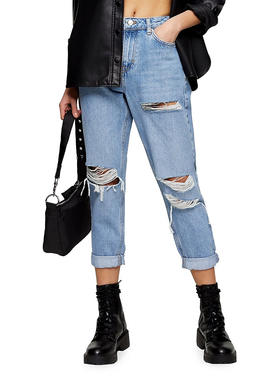 Ripped Mom Jeans 30-Inch Leg