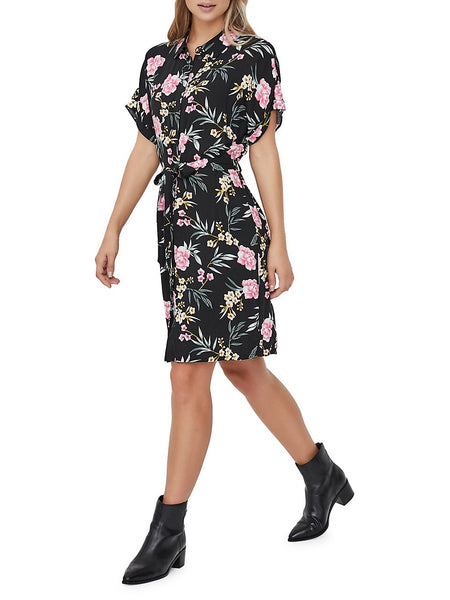 Simple Easy Floral-Print Shirtdress