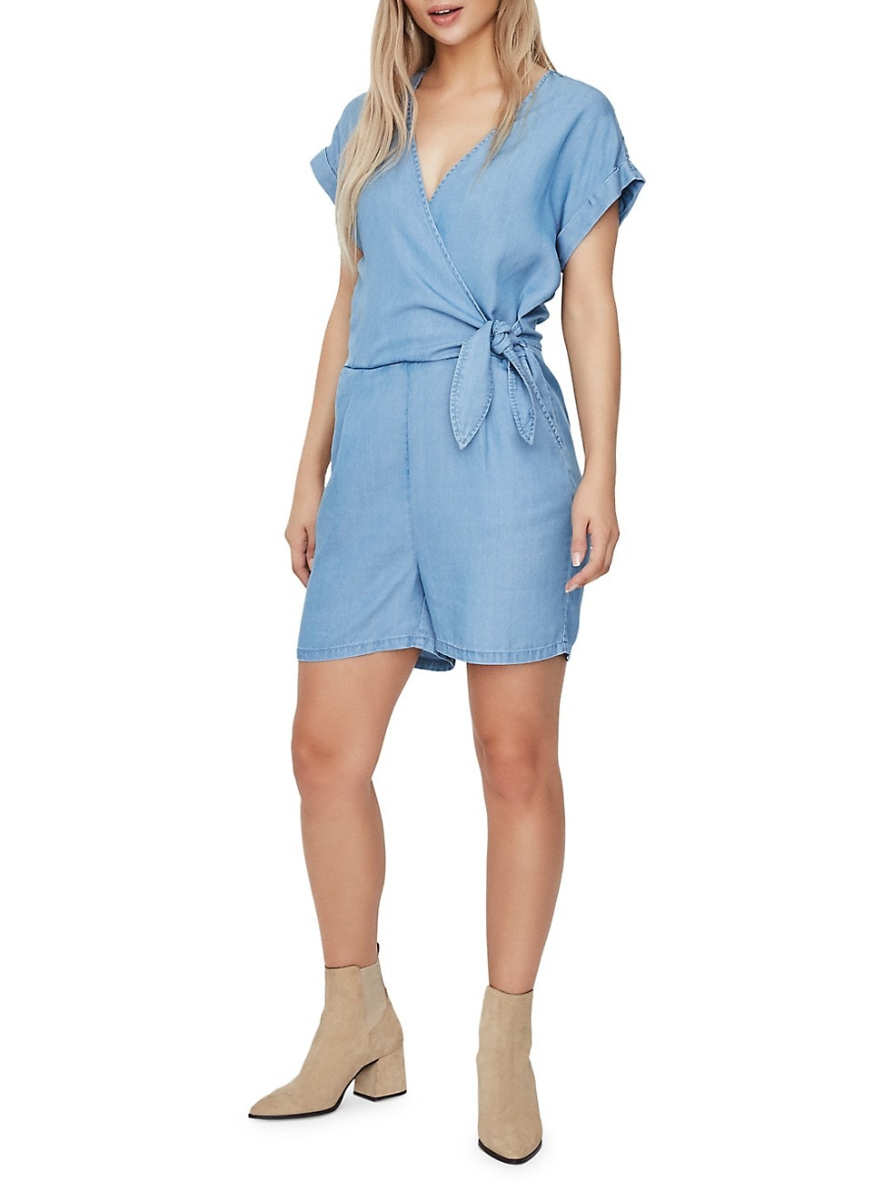 Laura Chambray Romper
