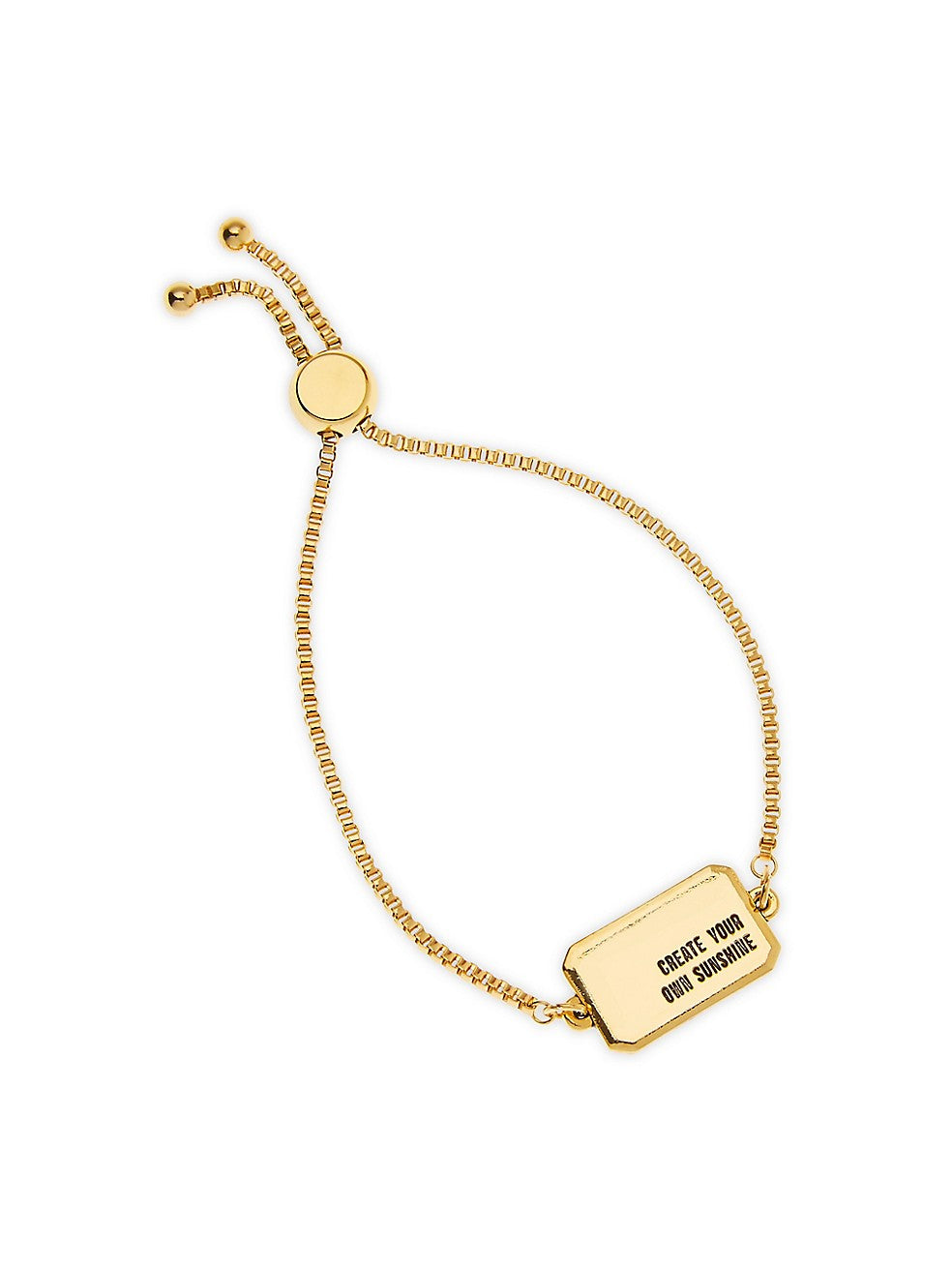 Create Your Own Sunshine 14K Goldplated Slider Bracelet