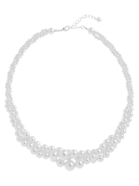 3 Row Pearl Twist Necklace