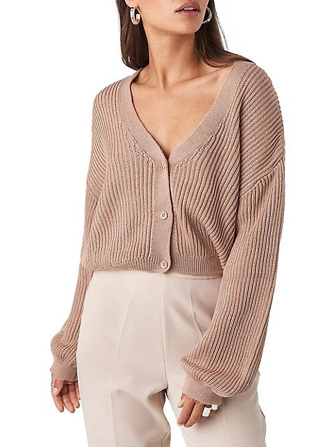 Volume-Sleeve Cardigan