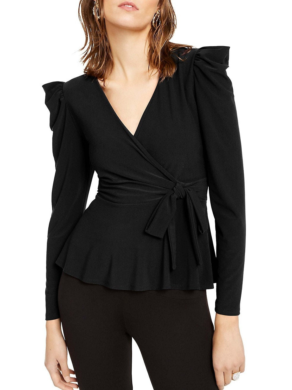 Petite Side-Tie Surplice Top