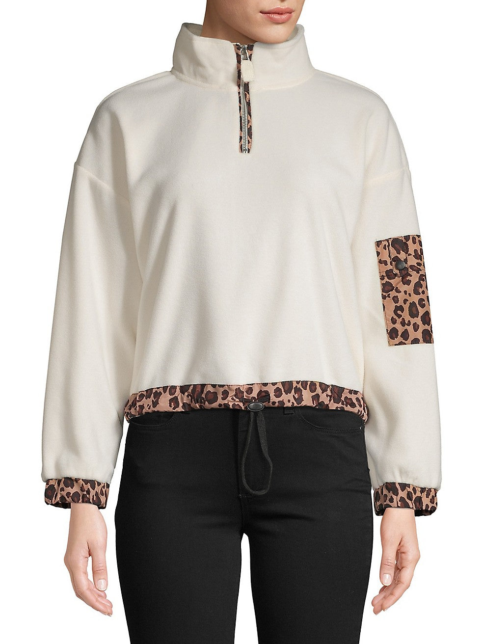 Stand-Collar Long-Sleeve Sweater