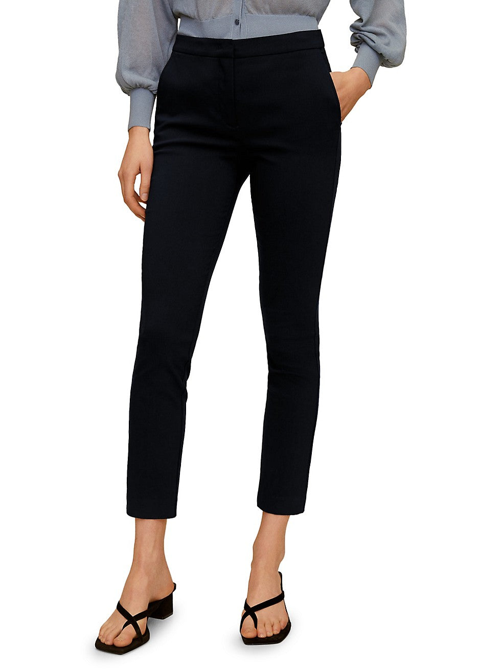 Cola Cropped Skinny Trousers