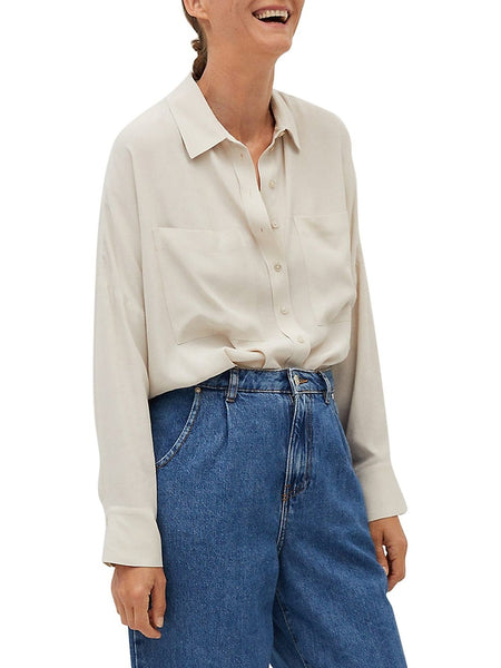 Pocket Dropped-Shoulder Shirt