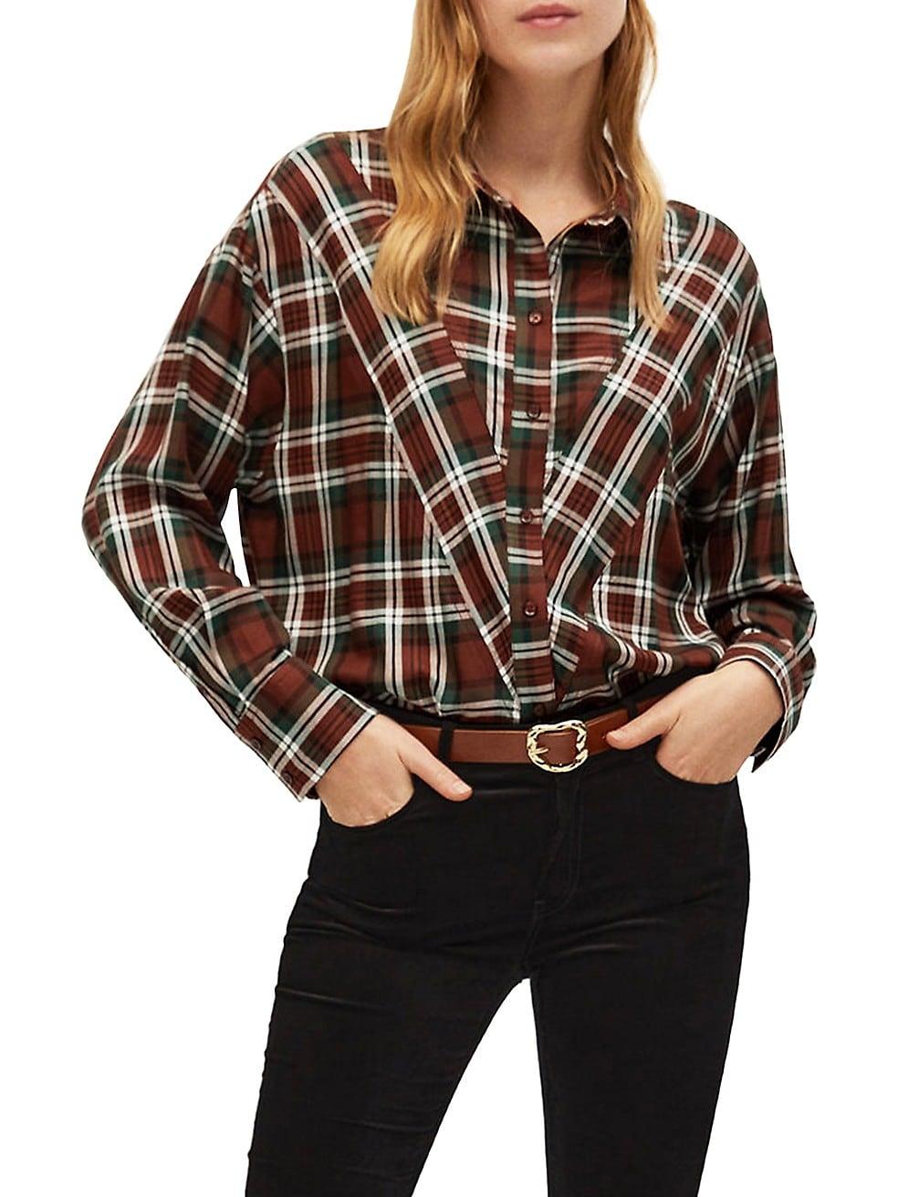 Checkered Long-Sleeve Shirt