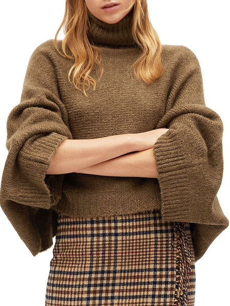 Layer Knit Turtleneck Sweater