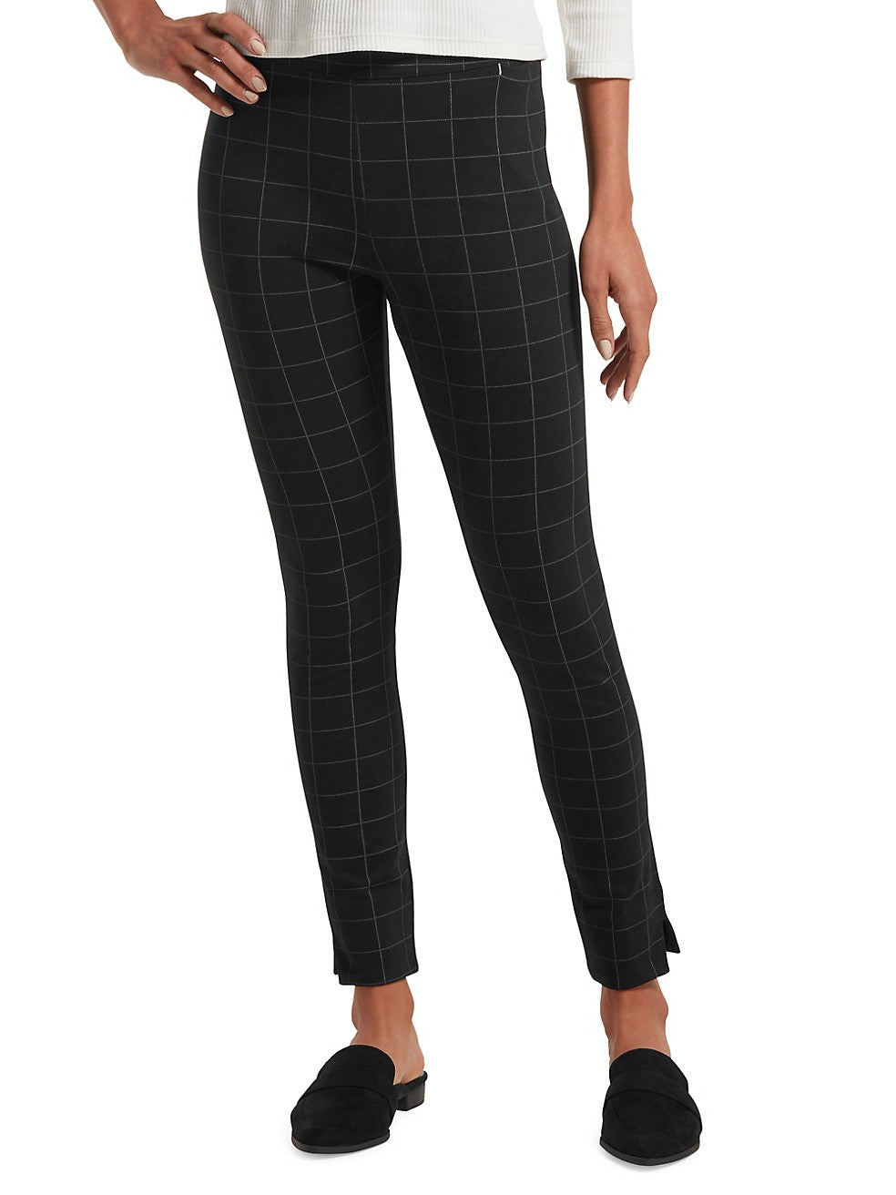 Windowpane Ponte Leggings