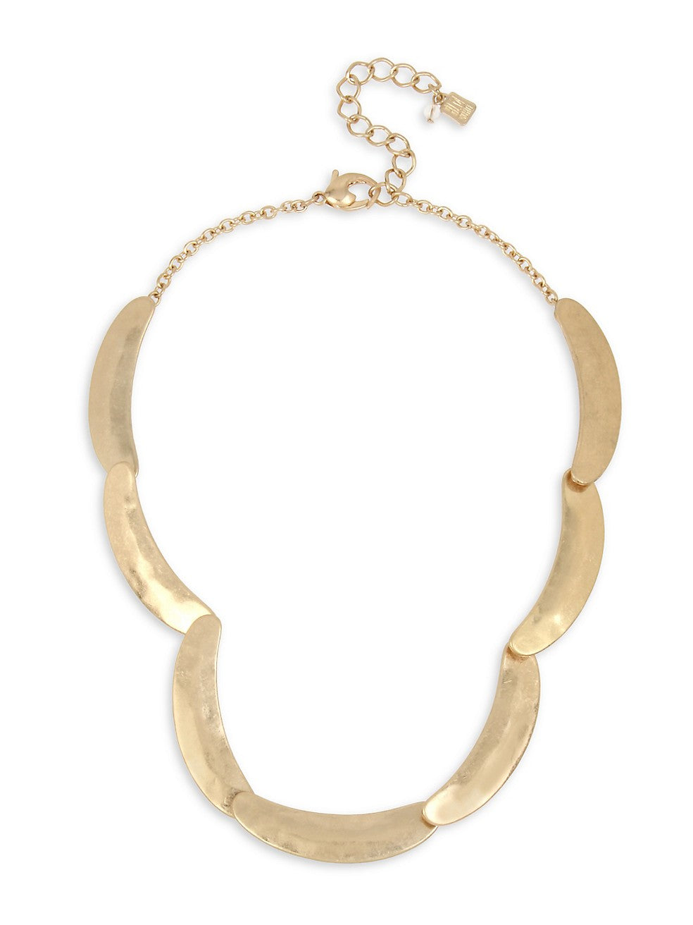 Greener Pastures Sculptural Curved Goldtone Collar Necklace