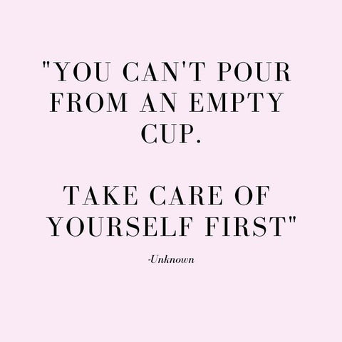 You cannot pour from an empty cup