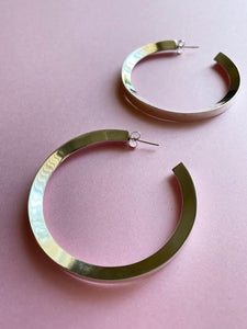 Oversized Triangular Hoop Earring