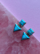 Load image into Gallery viewer, Turquoise Inlay Hinge Stud Earring