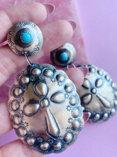 Load image into Gallery viewer, Turquoise Cross Statement Earring