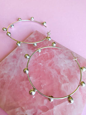 Playful Shere Hoop Earring in Sterling Silver