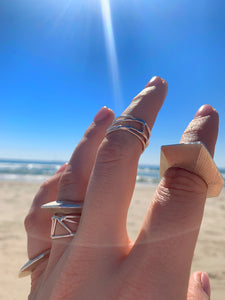 "Small ""Courage Stack Ring"" in Sterling Silver"