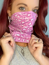 Load image into Gallery viewer, Pink Cheetah Print Face Wrap