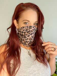 Cheetah Print Face Wrap
