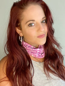 Pink Cheetah Print Face Wrap