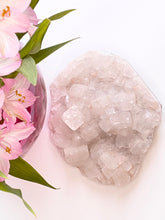 Load image into Gallery viewer, Large Clear Apophyllite Crystal with Tiny Pink Stilbite Accents
