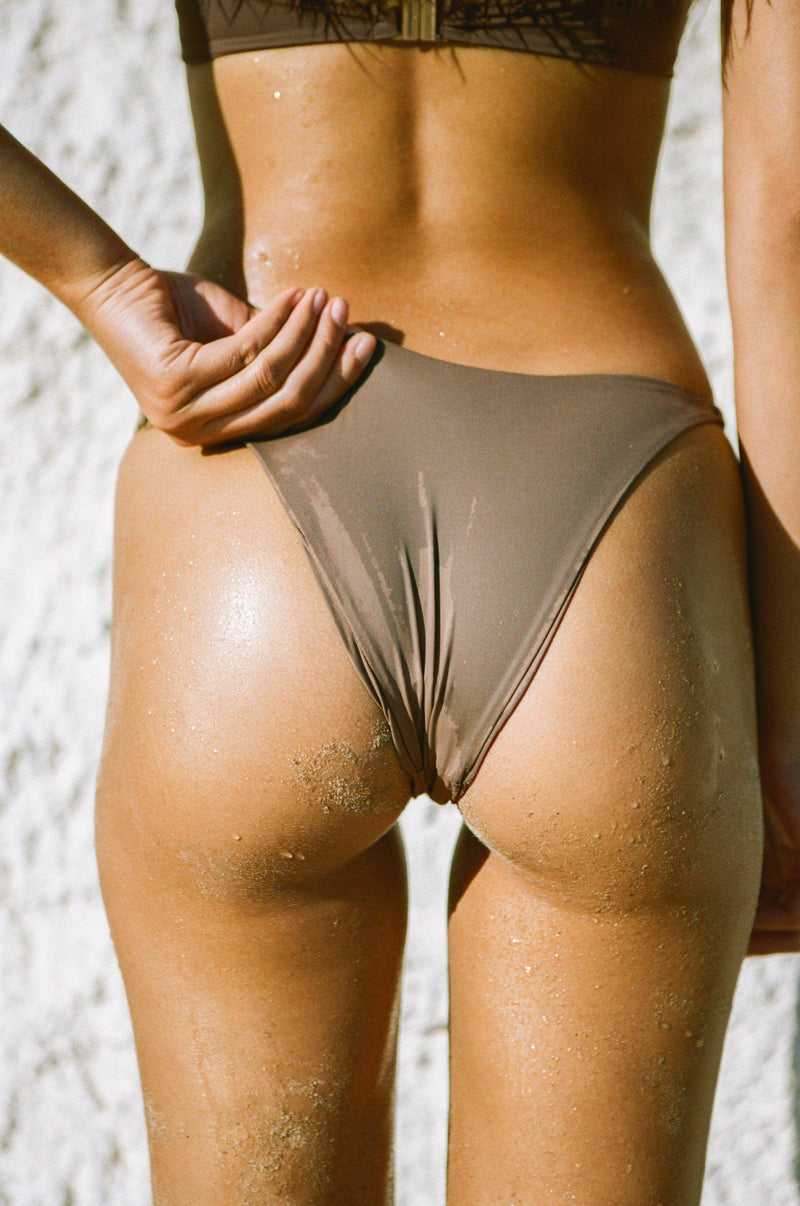 Bottom view of swimwear when wet