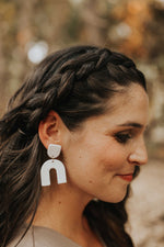 Annie Earrings in White Granite