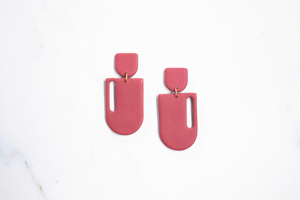 """Cammie"" Earring in Pomegranate"