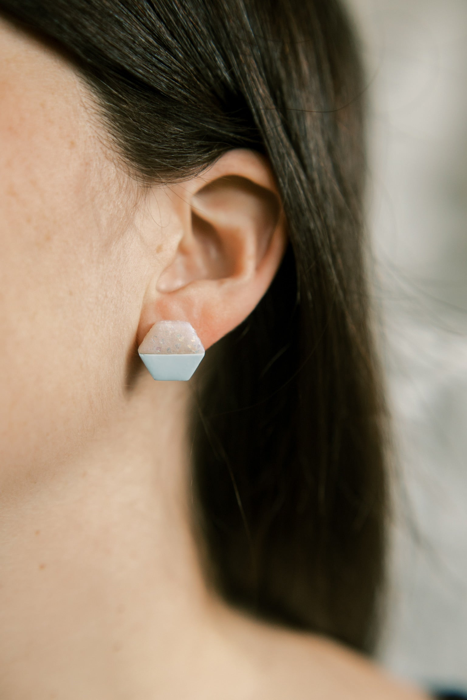March Birthstone Stud | Aquamarine