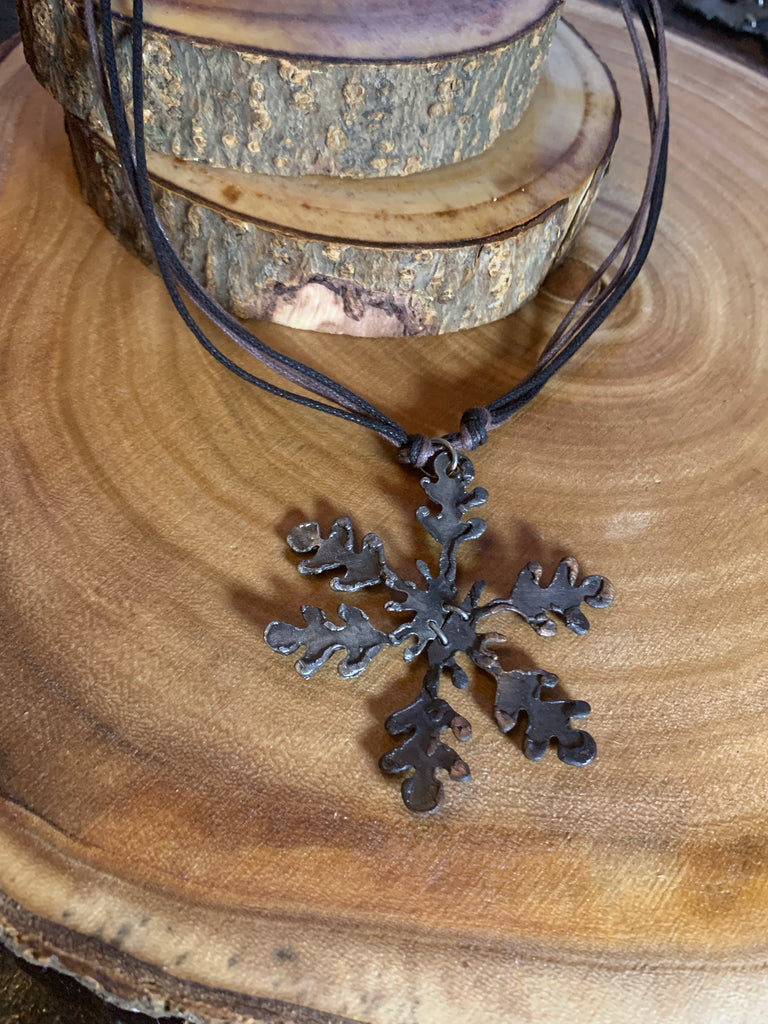 Pewter Snowflake Necklace