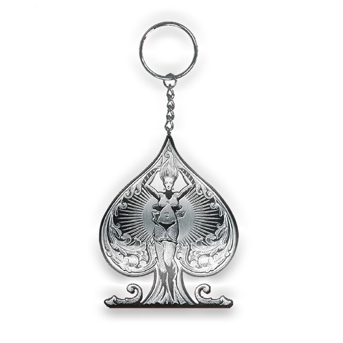 Ace of Spades Key Ring