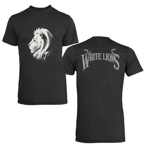 CHARCOAL WHITE LIONS T SHIRT