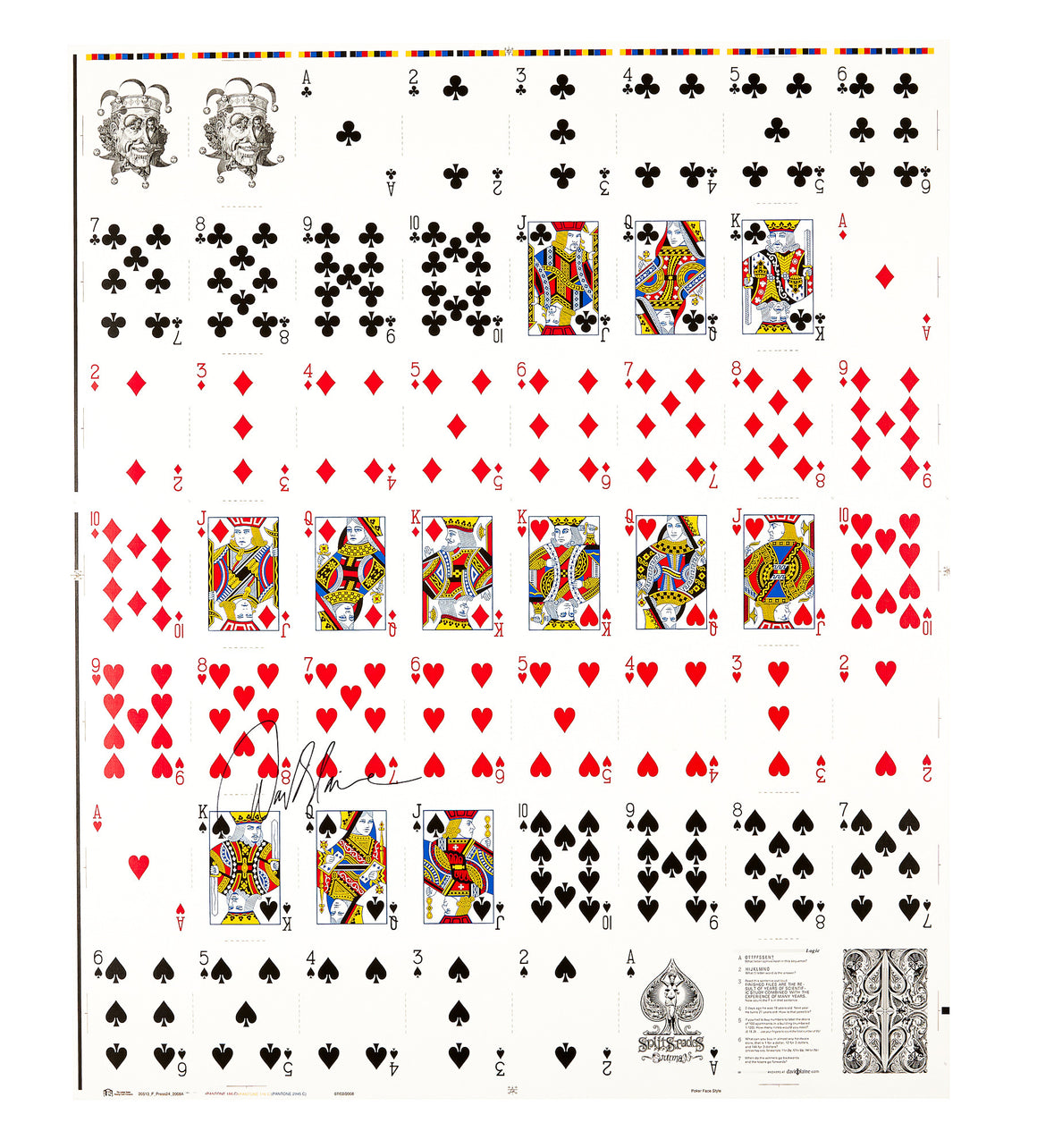 AUTOGRAPHED BLACK SPLIT SPADES UNCUT SHEET - David Blaine Official Store - 1