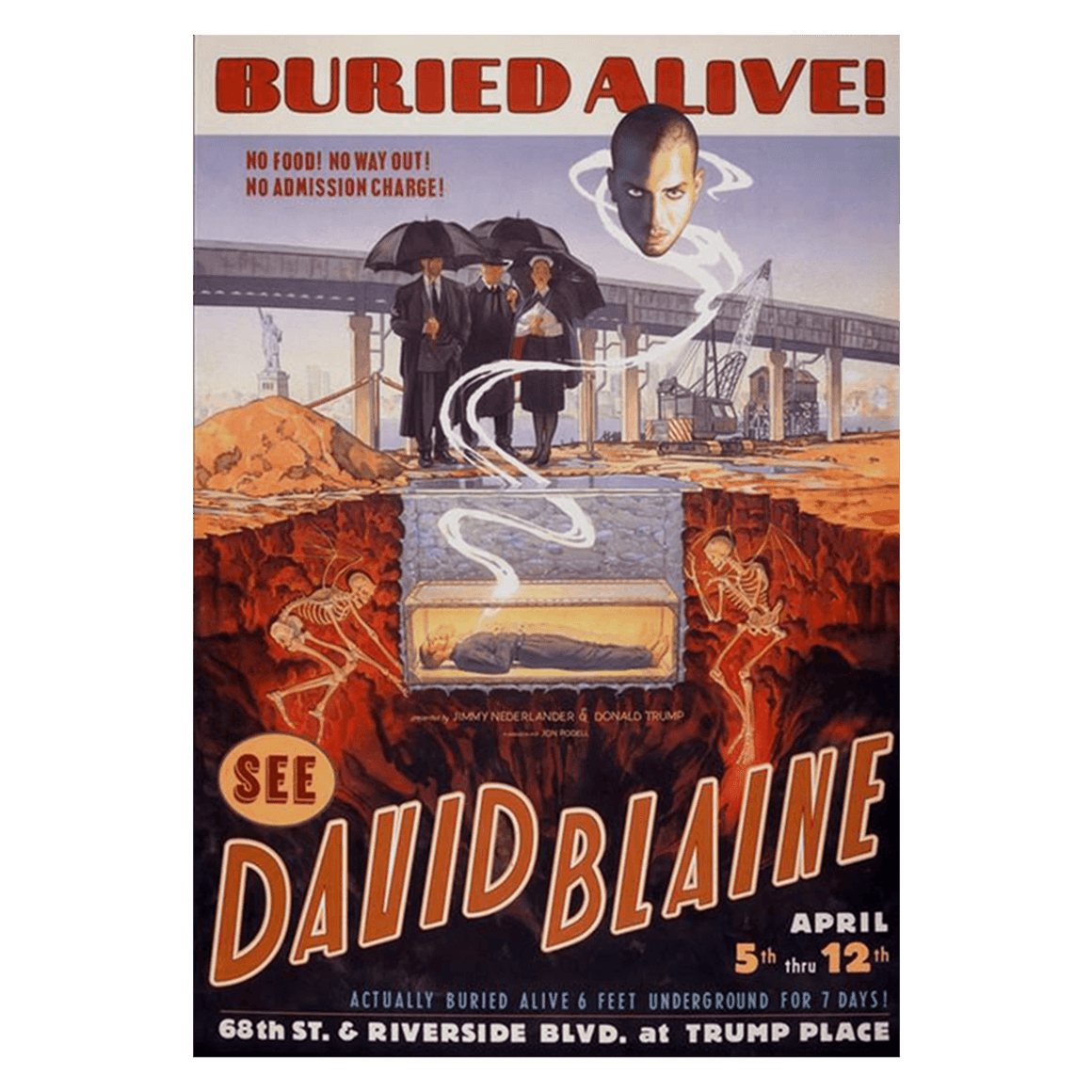 Signed Buried Alive Poster