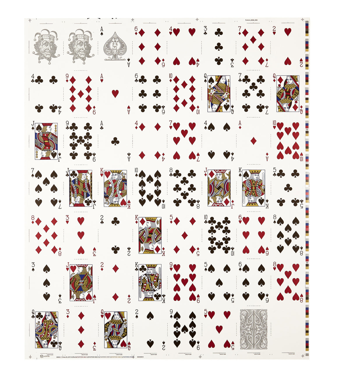 SILVER SPLIT SPADES UNCUT SHEET - David Blaine Official Store - 1