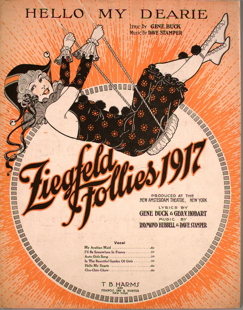Sheet Music Art of the Ziegfeld Follies (1907-1931)
