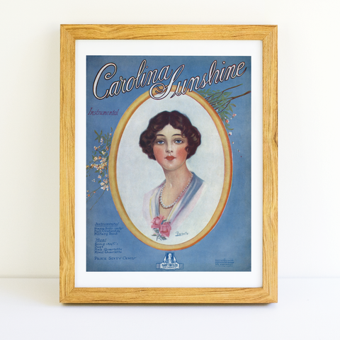 Albert Wilfred Barbelle - Carolina Sunshine - (Sheet Music Cover, 1919)