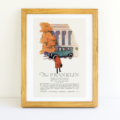 Franklin Automobile Ad - (From Century Magazine; November, 1920)