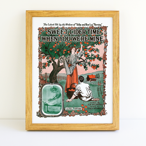 Morris Rosenbaum - Sweet Cider Time When You Were Mine - (Sheet Music Cover, 1916)
