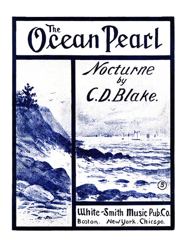 The Ocean Pearl - (Sheet Music Cover, 1906)
