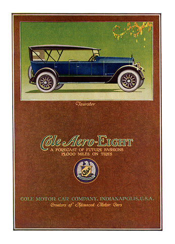 Cole Aero-Eight Ad - (From Century Magazine; February, 1920)