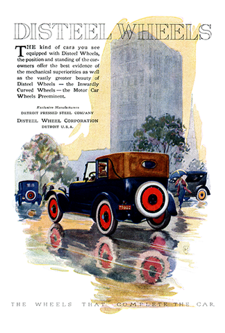 Disteel Wheels Ad - (From Century Magazine; November, 1920)